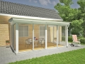 Willab Garden – Pulpet 15 kvm, väggmonterat uterum 15 kvm